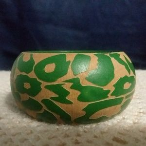 Green Wooden/Painted Bangle